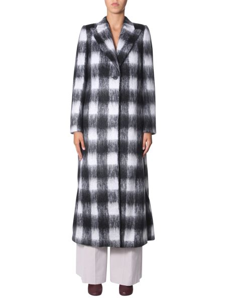 Maison Margiela - Brushed Mohair Check Coat