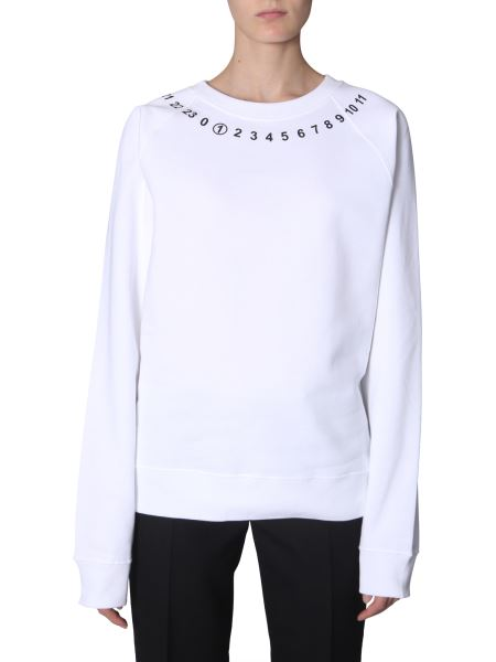 Maison Margiela - Logo Printed Cotton Sweatshirt