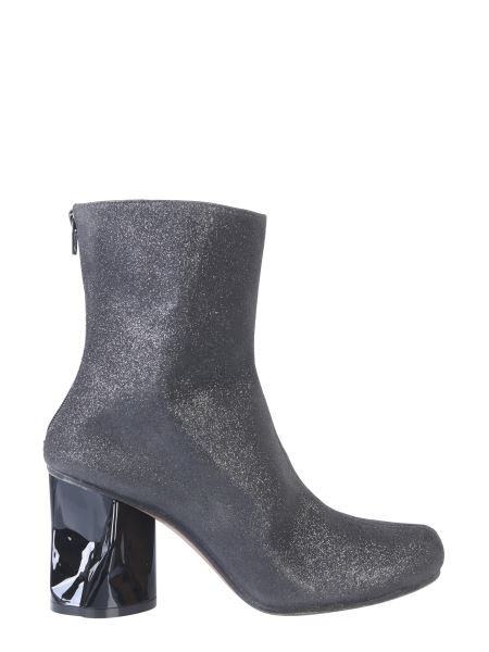 Maison Margiela - Glitter Boot With Crushed Heel
