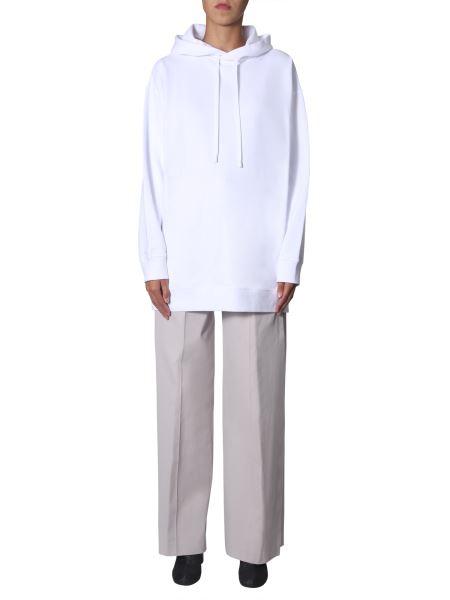 Maison Margiela - Oversize Fit Cotton Hooded Sweatshirt