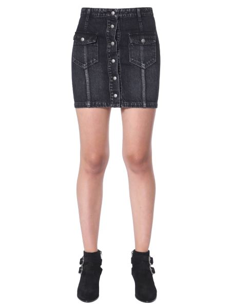 Saint Laurent - Denim Skirt With Pockets And Buttons