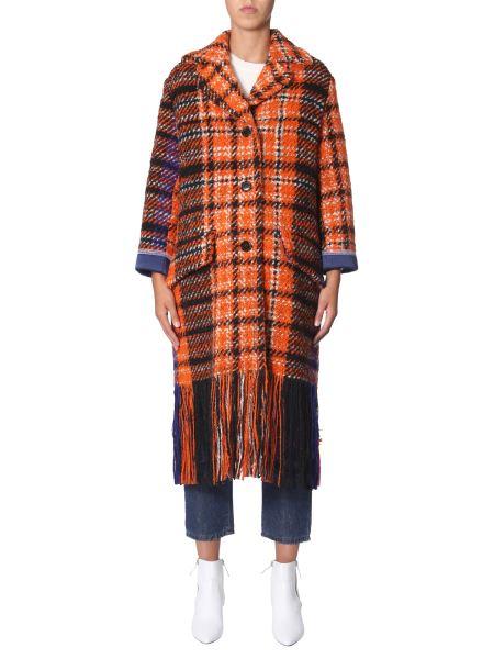 Marni - Tweed Wool Coat With Fringes