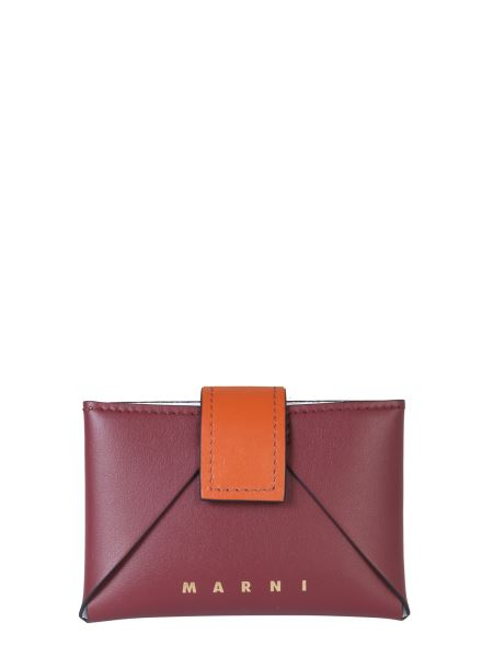 Marni - Origami Leather Card Holder With Logo