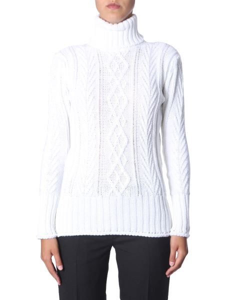 Thom Browne - Maglia In Lana A Collo Alto Regular Fit