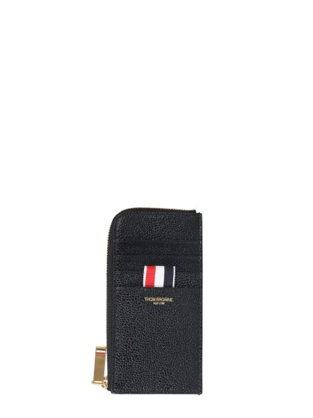 Thom Browne - Granulated Leather Zip Wallet