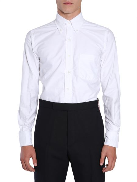 Thom Browne - Button Down Cotton Poplin Shirt