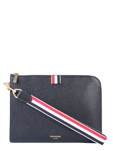 Thom Browne - Laced Wrist Leather Pouch