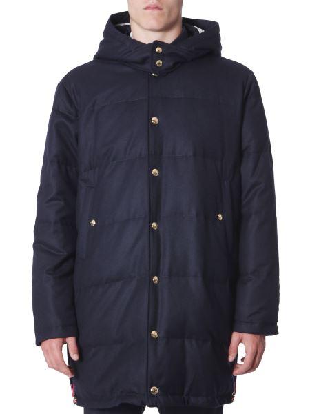 Thom Browne - Hooded Wool Down Jacket