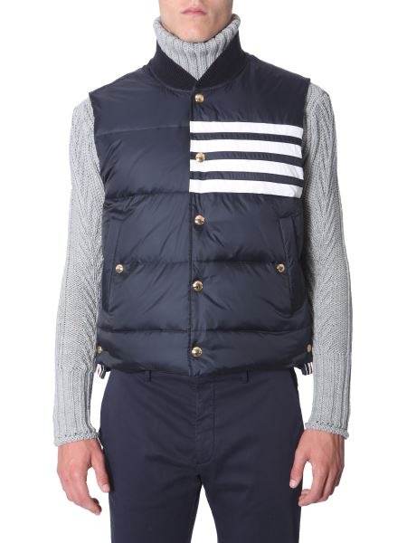 Thom Browne - Sleeveless Matt Nylon Down Jacket
