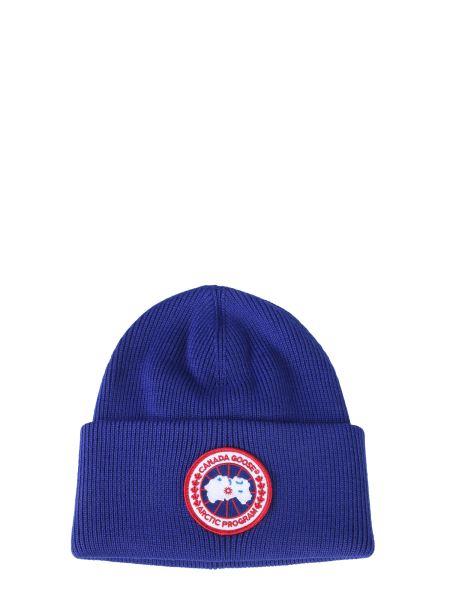 Canada Goose - Cappello In Lana Con Patch Logo