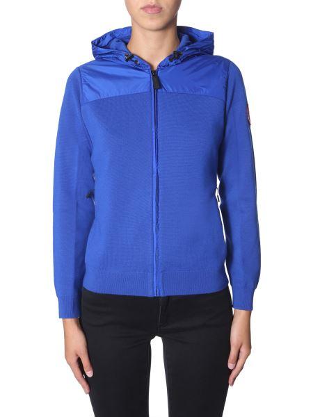 """Canada Goose - """"windbridge """" Hooded Woolen Jacket With Zip"""