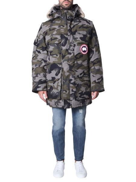 "Canada Goose - Parka ""expedition"" Con Cappuccio E Stampa Camouflage"