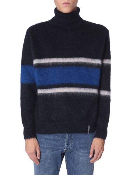"""Golden Goose Deluxe Brand - """"yoshiro"""" High Neck Sweater With Striped Pattern"""