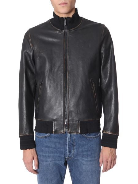 Golden Goose Deluxe Brand - Leather Bomber With Logo