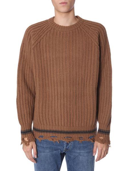 "Golden Goose Deluxe Brand - ""kunio"" Knit Sweater In Destroyed Wool"