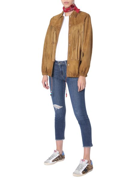 "Golden Goose Deluxe Brand - ""ayumi"" Suede Jacket With Fringes"