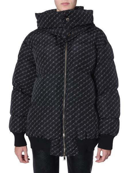 Stella Mccartney - Oversize Fit Down Jacket In Technical Monogram Print Fabric