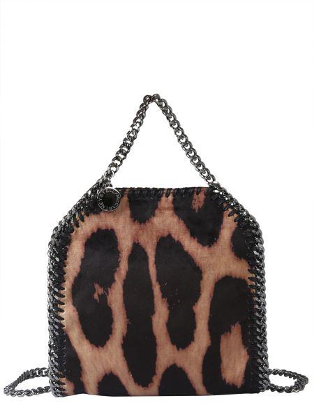 Stella Mccartney - Mini Falabella Tote Bag With Leopard Print