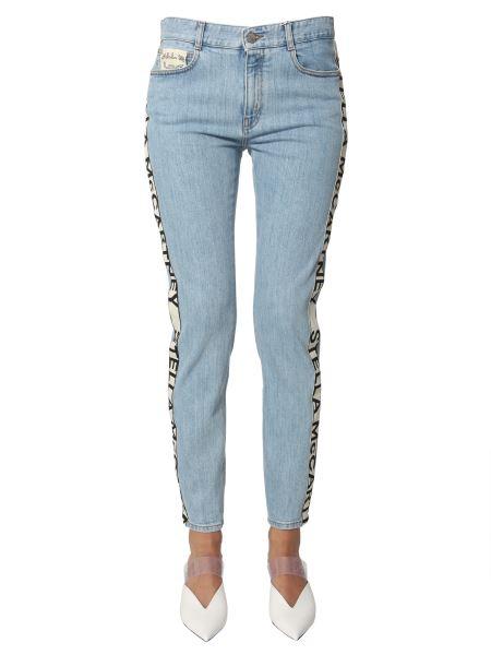 Stella Mccartney - Denim Strech Boyfriend Jeans With Logo Band