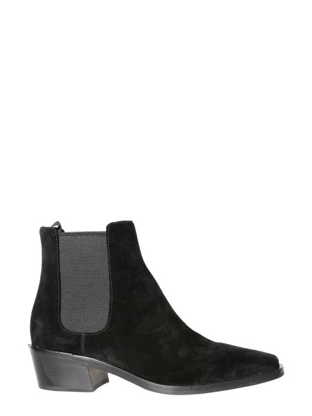 Michael By Michael Kors - Lottie Suede Leather Flat Boot