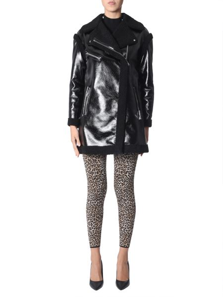 Michael By Michael Kors - Oversize Fit Shearling And Eco-leather Coat