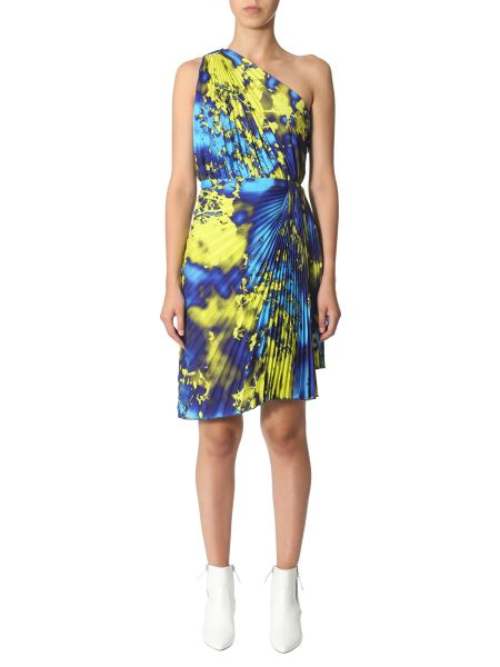 Msgm - Single-shaped Dress With Fluo Print