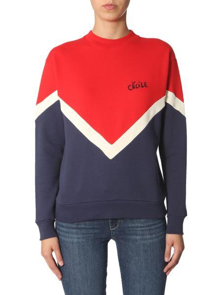 Être Cécile - Tricolor Cotton Sweatshirt