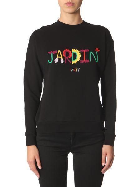 Être Cécile - Cotton Sweatshirt With Jardin Embroidery