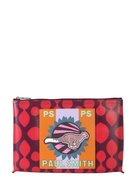 Ps By Paul Smith - Pvc Pouch With Cheetah Print