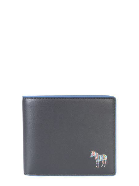 Ps By Paul Smith - Leather Bifold Wallet With Zebra Patch