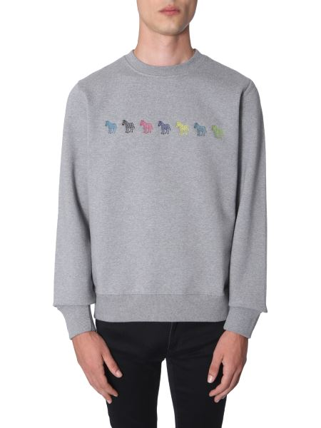 Ps By Paul Smith - Cotton Sweatshirt With Embroidered Zebra