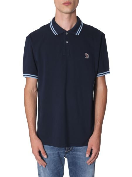Ps By Paul Smith - Regular Fit Piquè Cotton Polo Shirt With Contrast Outlines