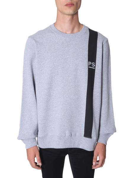 Ps By Paul Smith - Cotton Sweatshirt With Band Logo