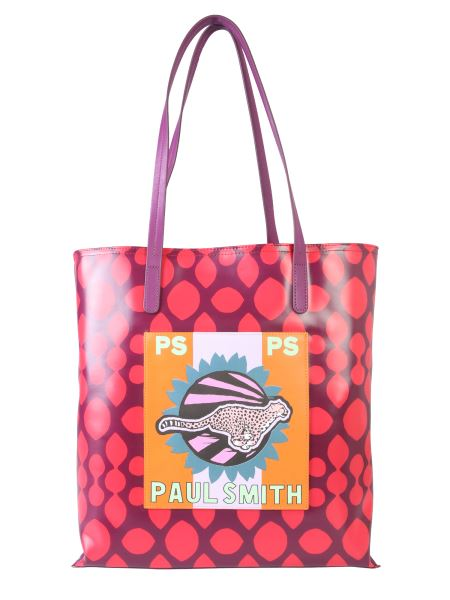 "Ps By Paul Smith - ""live Faster"" Shopping Bag With Outer Pocket"
