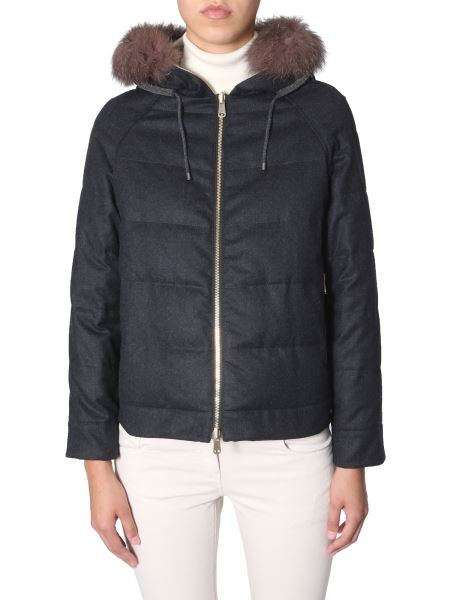 Brunello Cucinelli - Reversible Wooled Hooded Down Jacket