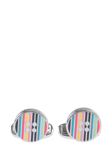 Paul Smith - Striped Enamelled Cufflinks
