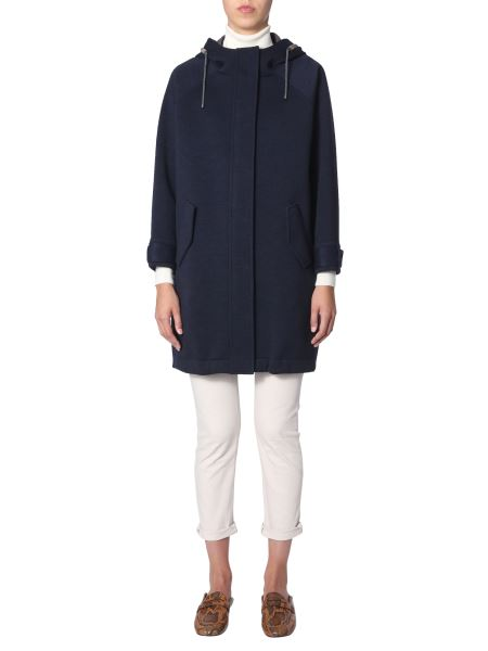 Brunello Cucinelli - Wool And Cotton Coat With Hood