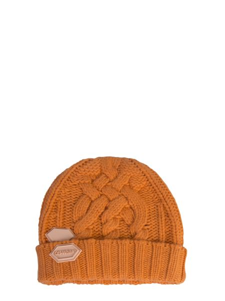 Off-white - Knitted Braided Hat With Patch Logo