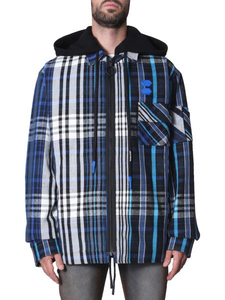 Off-white - Padded Check Shirt With Hood