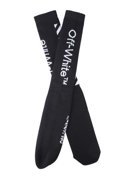 Off-white - Mixed Cotton Socks With Diag Logo
