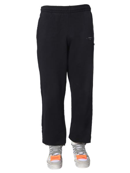 """Off-white - """"unfinished"""" Cotton Jogging Pants"""
