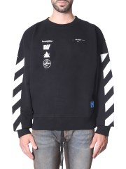 OFF-WHITE - FELPA GIROCOLLO