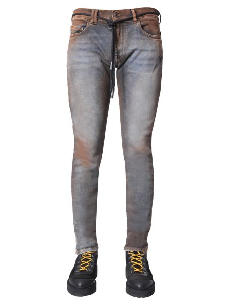 Off-white - Skinny Fit Cotton Denim Jeans