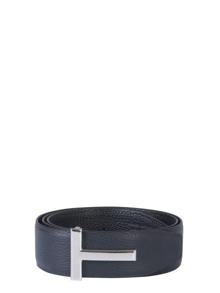 Tom Ford - Cintura Reversibile In Pelle Con Fibbia A T