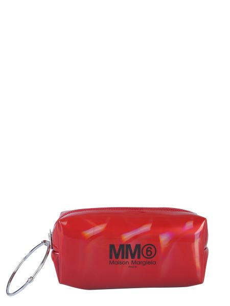 Mm6 Maison Margiela - Leather Clutch With Logo And Ring