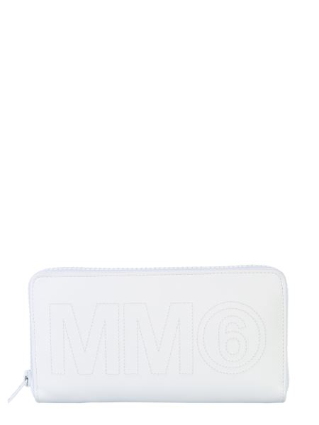 Mm6 Maison Margiela - Zip Wallet With Logo
