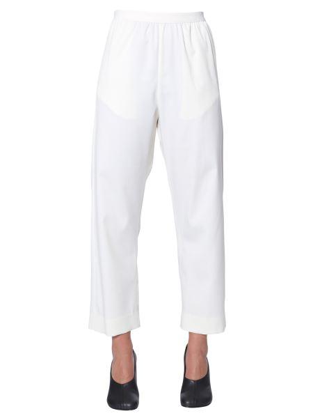 Mm6 Maison Margiela - Cropped Wide Wool Pants