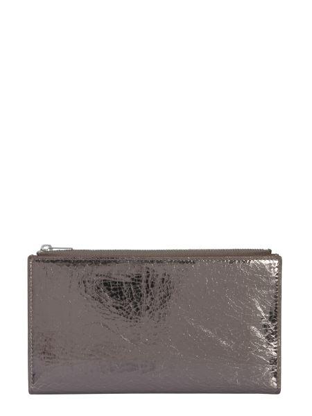 Mm6 Maison Margiela - Crackle Effect Laminated Leather Wallet