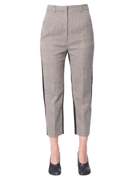 Mm6 Maison Margiela - Pantalone Cropped Tartan Con Patchwork Bicolore