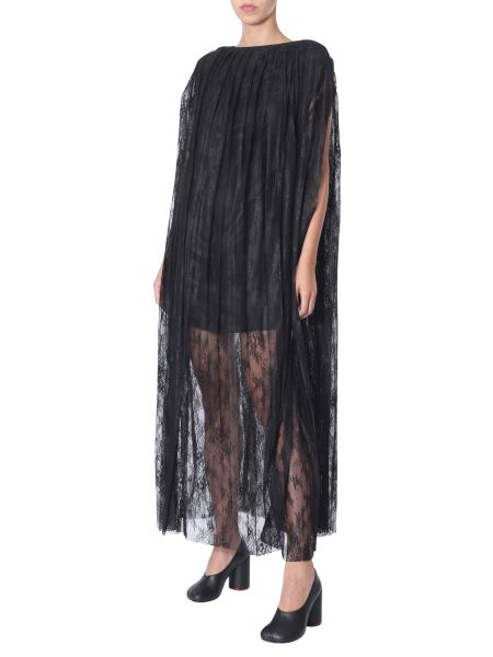 Mm6 Maison Margiela - Long Pleated Lace Dress